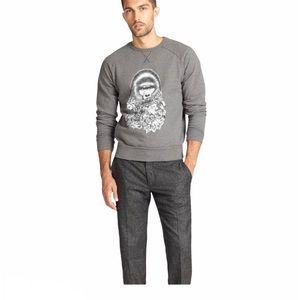 AMI Paris Grey Gorilla Print Sweatshirt